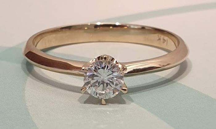 טבעת אירוסין Solitaire