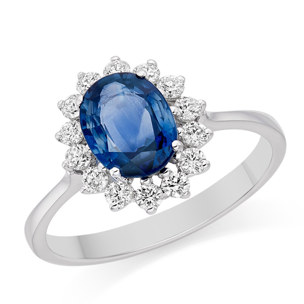 טבעת אבן ספיר Diana