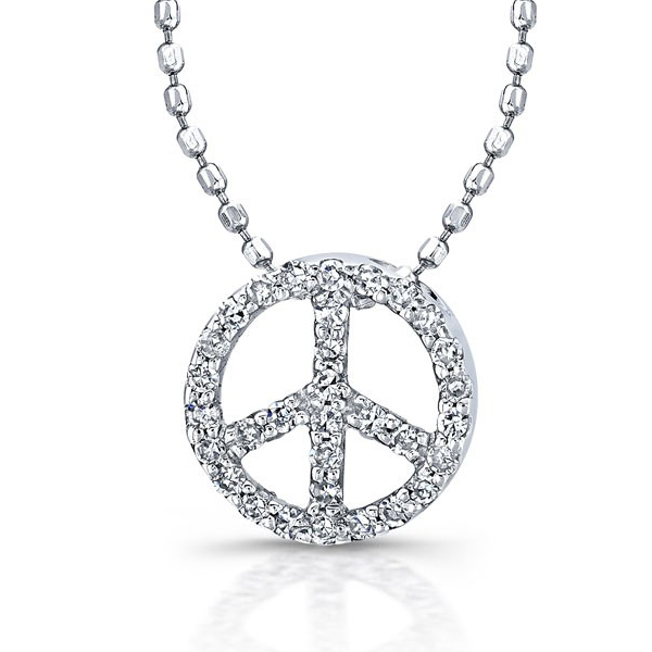 שרשרת יהלומים Peace