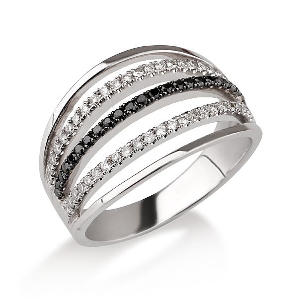 טבעת יהלום B&W