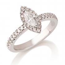 טבעת יהלום Rosetta