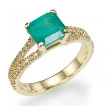 טבעת אבן אמרלד Elza
