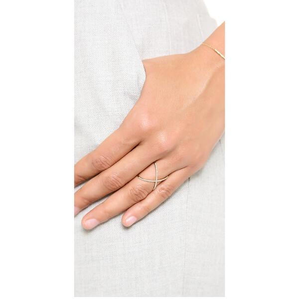 טבעת יהלומים איקס