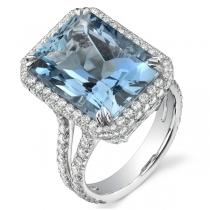 טבעת אבן חן Aquamarine