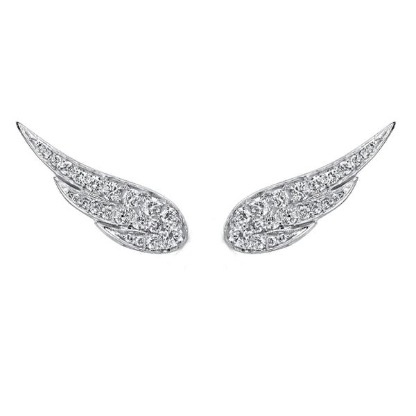 עגילי יהלום Feather